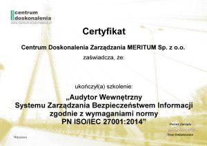 zobacz przykładowy certyfikat