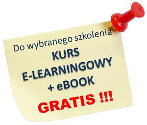 do wybranego szkolenia kurs e-learningowy oraz ebook gratis