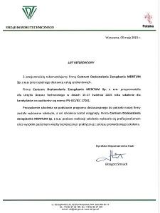 List referencyjny UDT